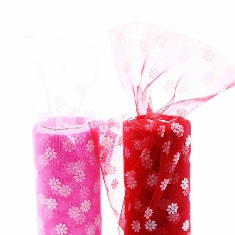 Cherry Blossoms ผ้า Tulle DIY เด็กทารก Tutu กระโปรง Graduation Party งานแต่งงานตารางเก้าอี้ Sash Home Decor เย็บอุปกรณ์เสริม