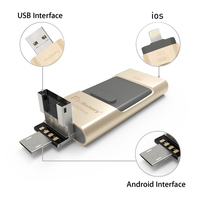 USB FLASH DRIVE OTG 64GB Pen Drive 3 In 1 U Disk For Apple Iphone 6s
