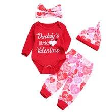c8c4bbafb Newborn Infant Baby Boy Girl Letter Romper Tops Pants Hat Set Valentine  Outfits girls clothes valentine
