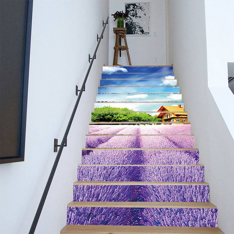 Urijk DIY 3D Stairway Stickers Stairs Sticker for Room Stairs Decoration Home Decor Floor Wall Sticker New Year Decor
