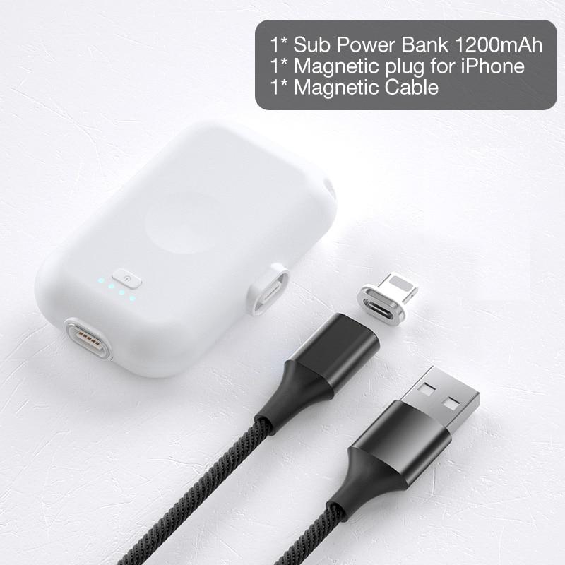 Cafele магнитный беспроводной внешний аккумулятор для iPhone Xiaomi 9 huawei мини внешний аккумулятор Micro usb type C внешний аккумулятор портативное зарядное устройство - Цвет: For iPhone
