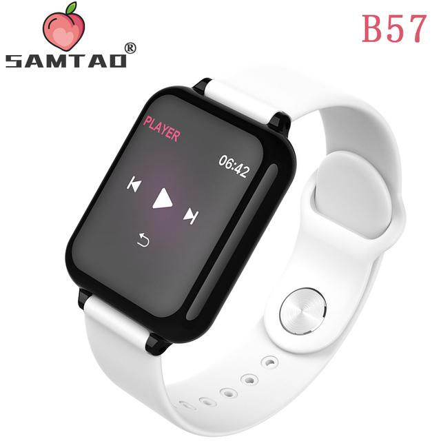 Smart Watch B57 Waterproof Heart Rate Monitor Blood Pressure Multiple Sport Mode Women Wearable Watch Men Smart Clock By SAMTAO
