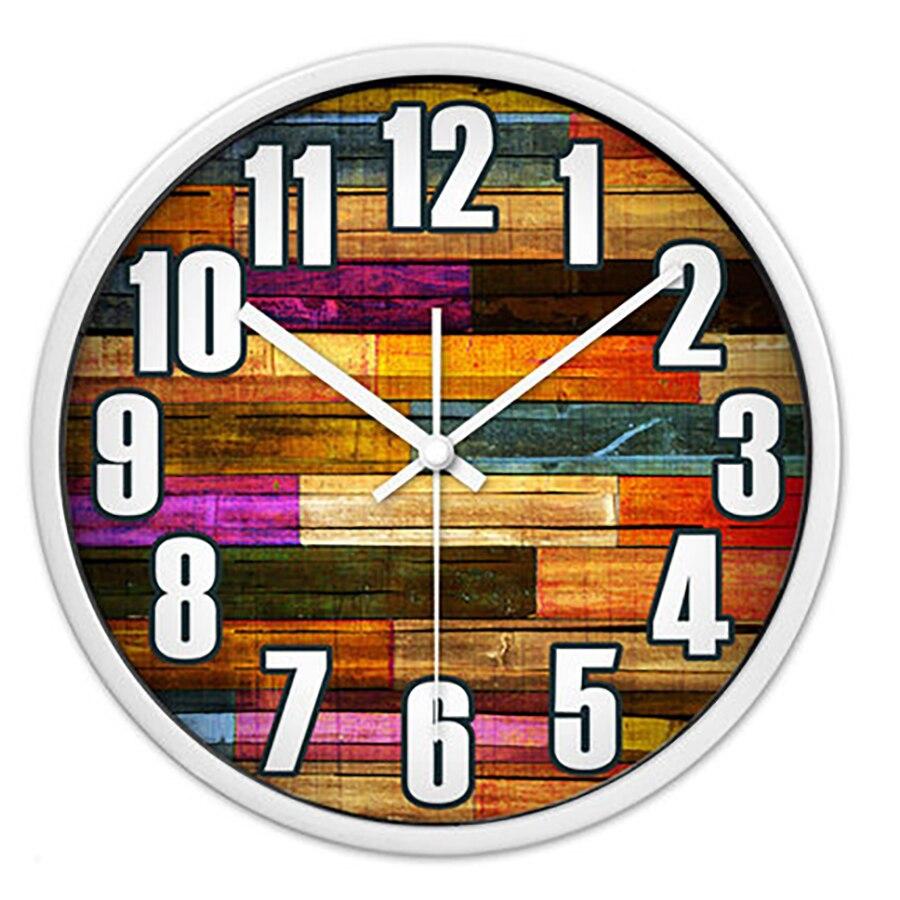 Grande couleur Cool Horloge Murale Quartz silencieux chambre cuisine Horloge Murale moderne Vintage Horloge Murale montre décor à la maison 50w200