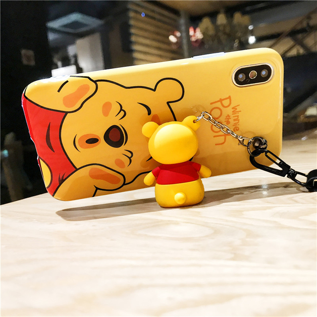 Cute Cartoon Printed Silicone Phone Cases With Strap