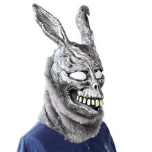 Donnie Darko FRANK Rabbit Mask Halloween the Bunny Latex Hood with Fur Mask Funny Gift Z0301(China)