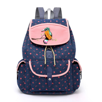 Cloth Shake Cartoon Animals Women Backpack Fresh Style Bookbags Denim Shoulderbag High Capacity Backpack Youth Gril Travel Bag
