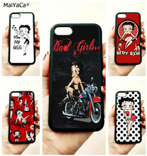 cartoon betty boop soft edge cell phone cases for apple iPhone x 5s SE 6 6s plus 7 7plus 8 8plus XR XS MAX case стоимость