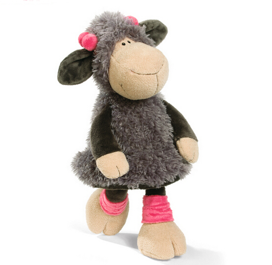candice guo! super cute NICI plush toy stuffed Jolly Mah Lucy sheep gray skirt lamb girl birthday gift 35cm 1pc candice guo wooden toy wood block duck pull cart board cannula pillar vehicle shape macth game birthday gift christmas present
