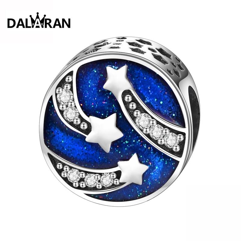 DALARAN fashion jewelry 925 sterling silver jewellery beads youthful versatile European style can be assembled