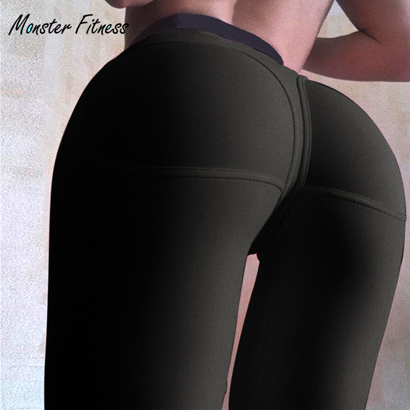 Monster 2018 Women Yoga Pants Sport Tights High Waist Push Up Fitness Sport Leggings for Women Sportswear Gym Running Yoga Pants