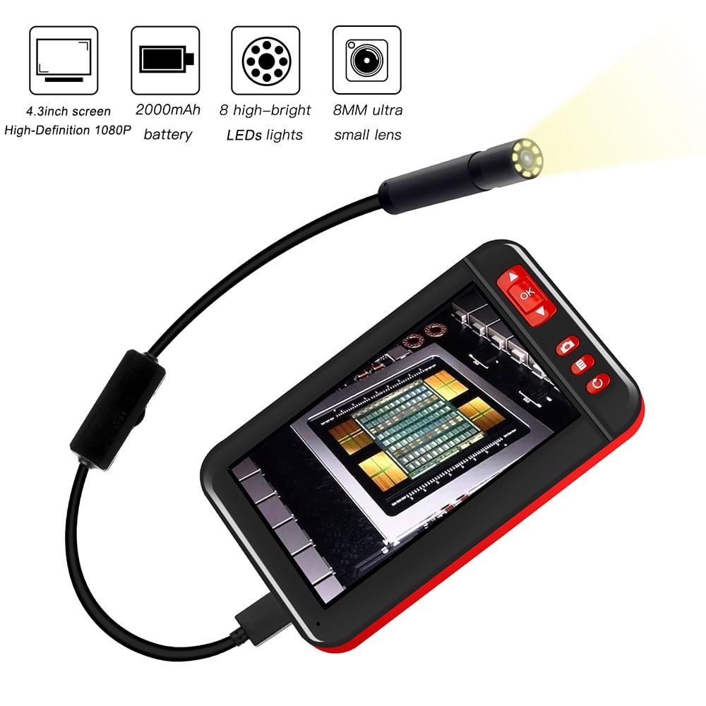Mini Camera Industrial Endoscope HD 1920x1080 Borescope Inspection Camera Plug And Play Endoscope Camera Endoscope For Cars
