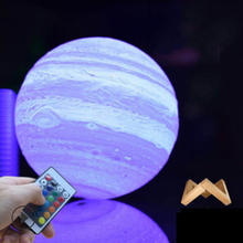 Moon Light 3D Print Globe Lamp Glowing With Stand, Luna Night for Home Bedroom Decor Children