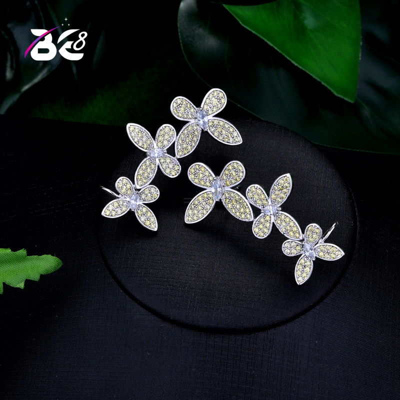 Be 8 New Style Flower Design Stud Earrings With Good Quality Crystal Earring For Women New Statement Jewelry E739
