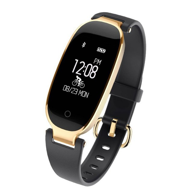 S3 Bluetooth Smart Band Bracelet IP67 Waterproof Girl Women Heart Rate Monitor W