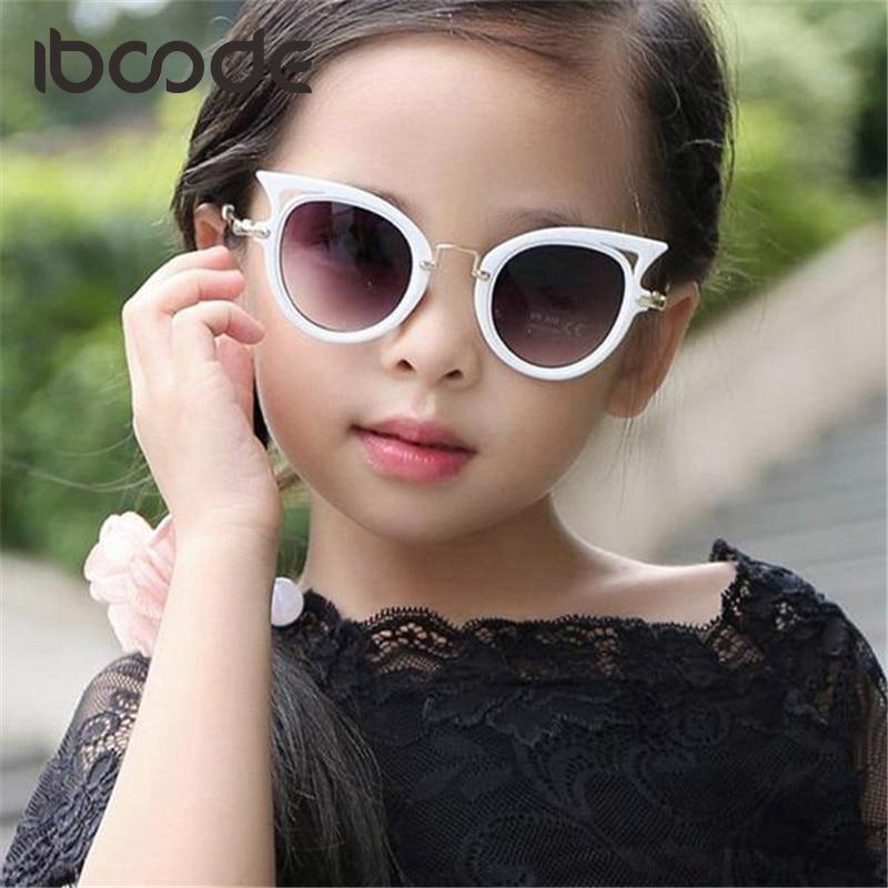 Iboode Katze Auge Marke Designer Sonnenbrille Für Kinder Mode Mädchen Jungen Nette Sonne Glas Kinder Gradienten Uv400 Kawaii Schöne Brillen SorgfäLtige FäRbeprozesse