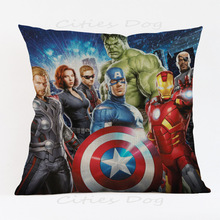Super Hero Cushion Cover Iron avengers decoration for home office chair seat sofa kids boys room gift friend present Pillow case deadpool movies comic printed cushion cover party decoration for home house sofa chair seat pillow case kids gift friend present
