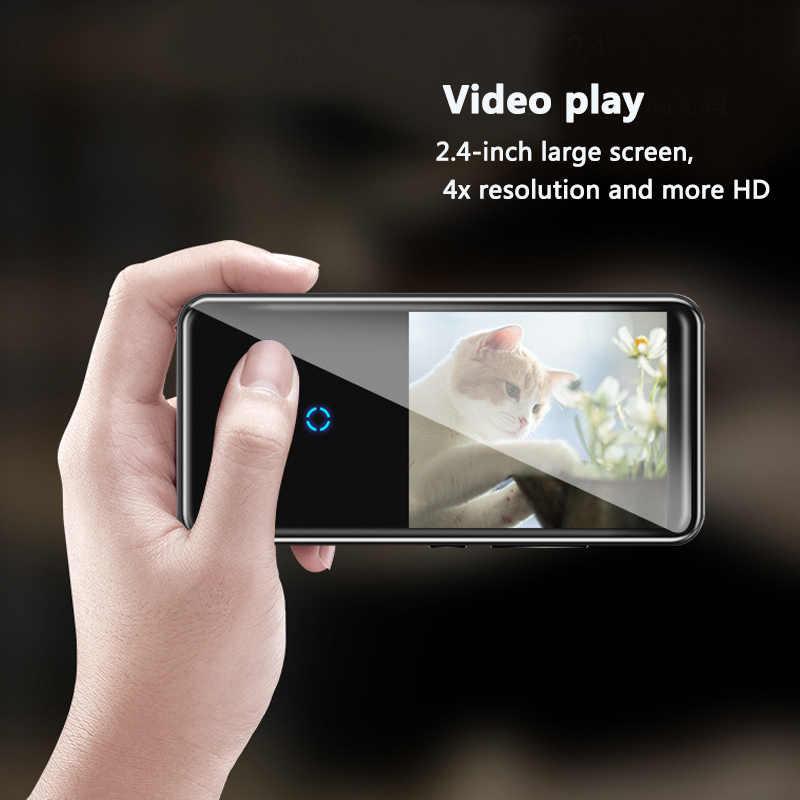 HD 1,8 дюймов портативный Bluetooth 4,2 изогнутый экран MP4 плеер смарт сенсорный экран Металл с аудио поддержкой 128 ГБ sd-карта