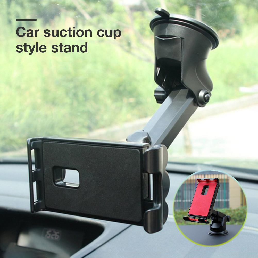 Car Phone Tablet Holder 360 Degree Adjustable Mobile Suction Cup Bracket Stand For GPS IPhone Samsung Huawei IPad Pro Air Mini
