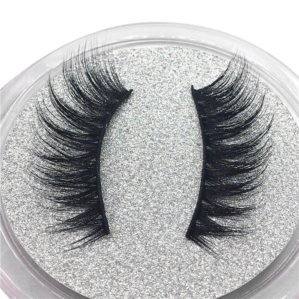 1 Pair Luxury Lashes 3D Mink Eyelashes Handmade Reusable Natural Eyelashes Popular False Lashes Makeup