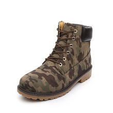 2016 Summer & Winter Men's Outdoor Casual Leather Martin Boots Men Military Camouflage Working Boots Botas Combat Hombre Tenis