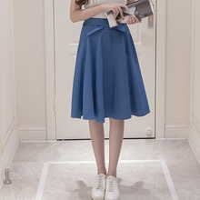 Knee length denim skirts for women online shopping-the world ...
