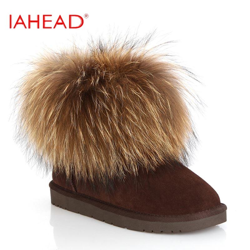 IAHEAD Women Snow Boots Fur Warm Shoes Winter Plush Shoes Low Short Ankle Boots Fashion Shoes MC340