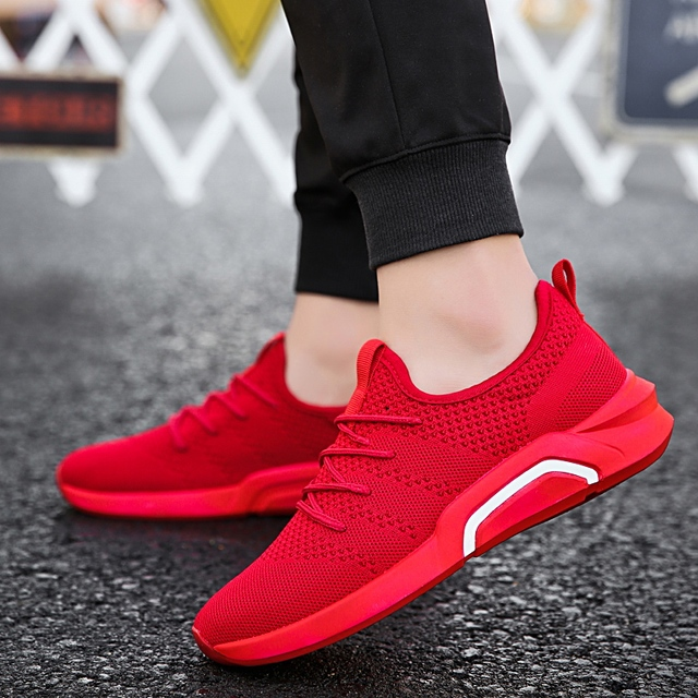 5cc4055994e2 Aliexpress.com   Buy Hot Sale Men 2018 Red Running Shoes Breathable Men Sport  Shoes Fitness sneakers outdoor Trainers Zapatillas Comfortable Footwear  from ...