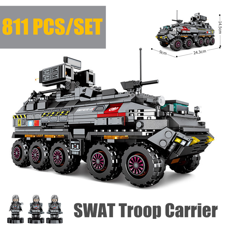 New Wandering Earth CN171 Troop Carrier Military fit legoings Swat Military Technic Army Truck Building Blocks Bricks toys giftNew Wandering Earth CN171 Troop Carrier Military fit legoings Swat Military Technic Army Truck Building Blocks Bricks toys gift