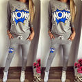 Fashion Women 2pcs Tracksuit Hoodies Sweats Sweatshirt Pants Sets Casual Women Suit Cotton Warm Clothes Set