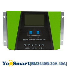 PWM 30A 40A Solar Charge Controller 12V 24V Auto With LCD Current Display USB Output Solar Panel Regulator Green New Arrival pwm 10a 20a 30a solar charge controller 12v 24v auto with lcd display usb output solar cell panel regulator pv home solar system