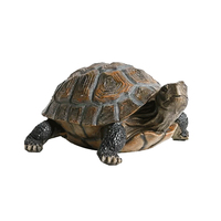 33x24x14cm Simulation Animal Turtle Ornaments Home Garden Pool Pond Resin Decoration Statue Sculpture Crafts Christmas Gift