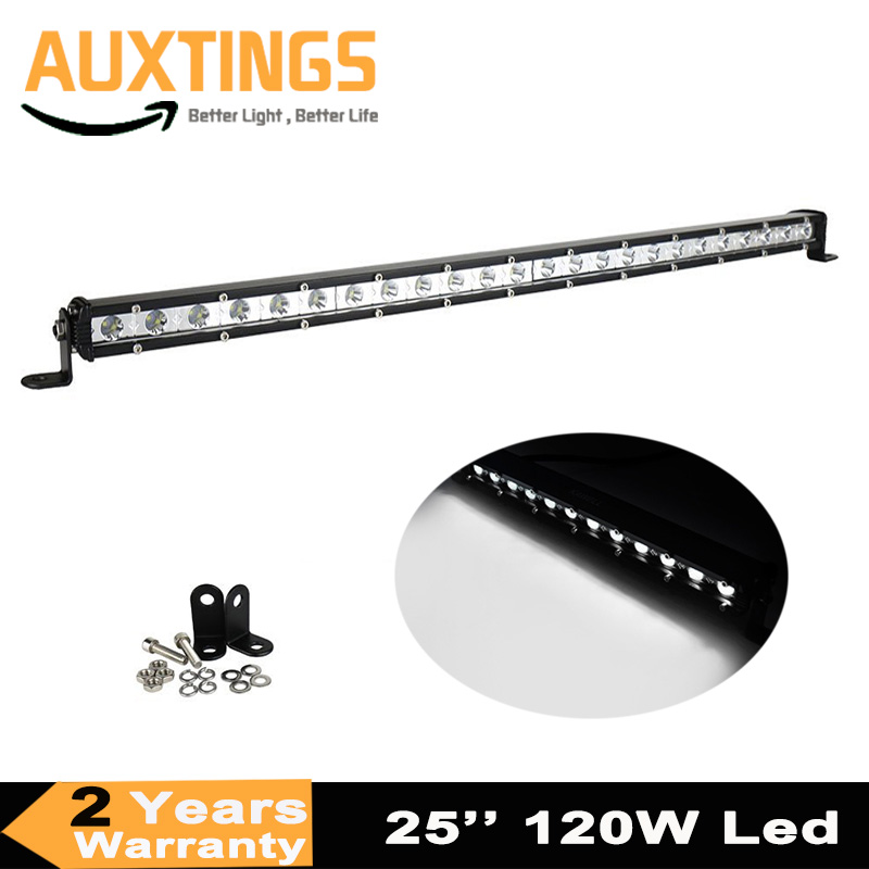 Slim 25Inch 120W Led Light Bar Combo Beams Single Row Auto Work Light For Jeep ATV 4WD Tractor Off-Road 12V 24V Led Bar