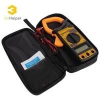 BeHelper LCD Digital Multimeter Voltmeter Ammeter AC DC Current Mini Clamp Meters Capacitance Voltage Tester DT266