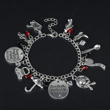 New Fashion Style Mary Poppins Charms Bangles Bracelets for Women Accessories Movie Jewelry Romantic Bracelet(China)