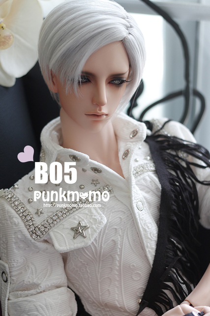 1/3  BJD wig  High-Temperature Wire short  straight  hair  for bjd  sd fashion dollfie  A01