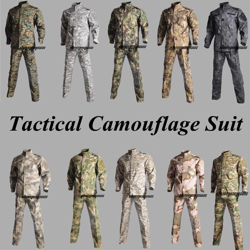 Chasse Sniper Camouflage Ghillie costume tactique militaire Combat Airsoft Uniforme veste + pantalon Multicam Typhon Uniforme Militar