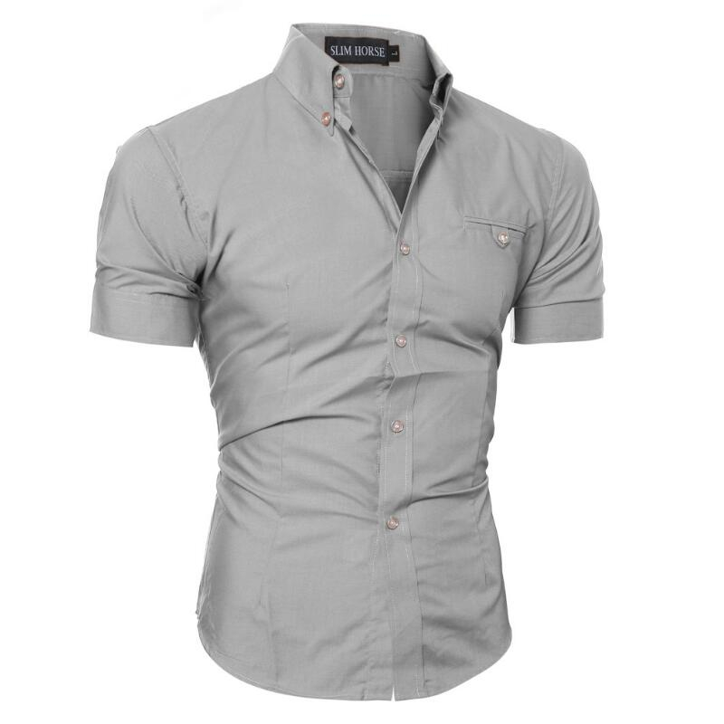Мужская рубашка 2017 Slim
