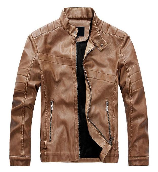 Nouvelle conception Biker en cuir vestes hommes automne Slim Fit moto en cuir vestes manteaux mâle Top qualité décontracté marque vêtements