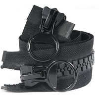 20# 75/80/85/90/95/100/120/150CM Extra Large Resin Zipper black Double-slider Open-end for Down Jacket Coat Pocket Zipper Slider