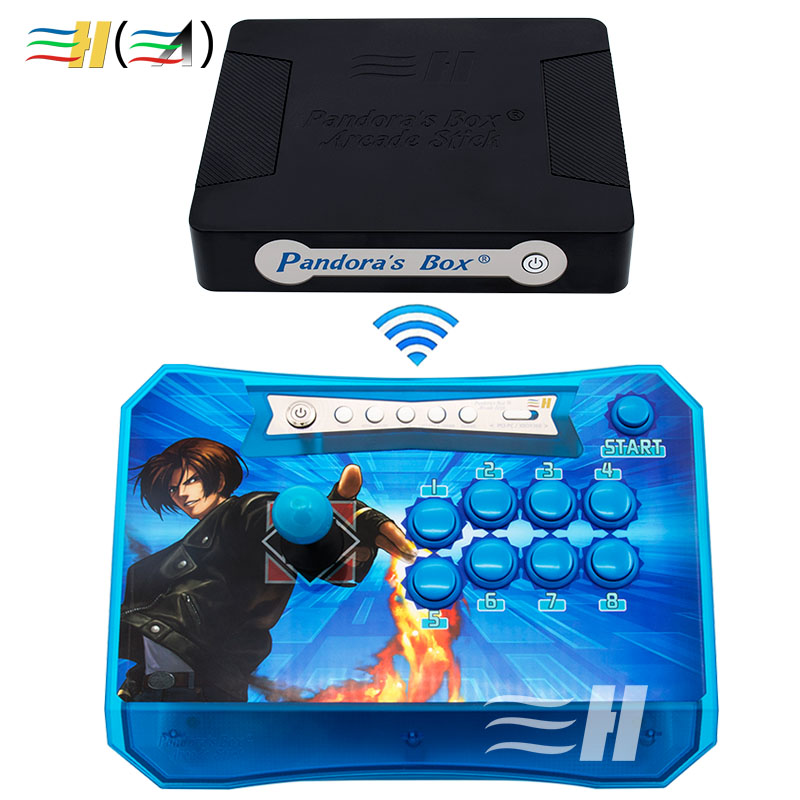 Arcade Controller 2 Players Fighting Game Stick Built in Pandora Box 4S+ 815 PS3 XBOX360 PC Pandora's Box Wireless Arcade Stick