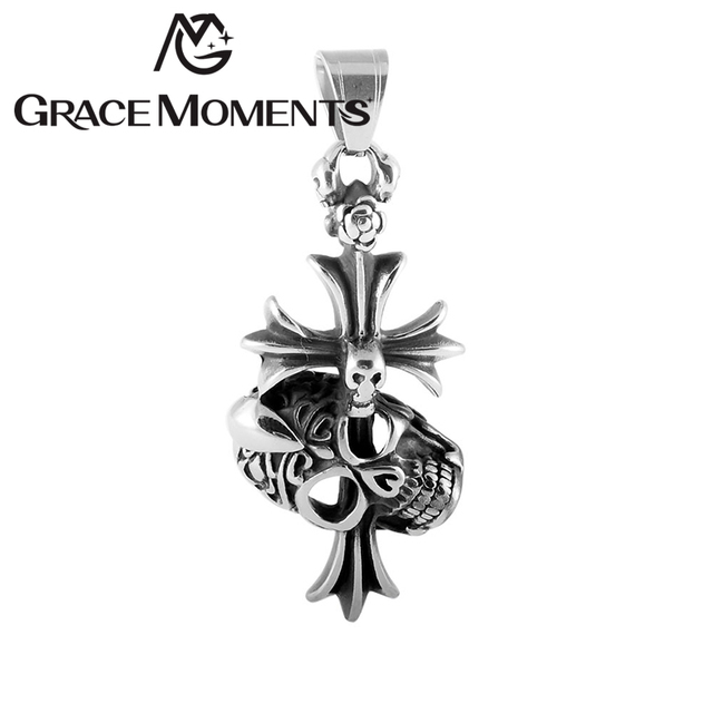 Online shop mens stainless steel jewelry motorcycle cross skull axe mens stainless steel jewelry motorcycle cross skull axe star dragon diy pendant fashion gift male jewellery necklace pendants mozeypictures Image collections