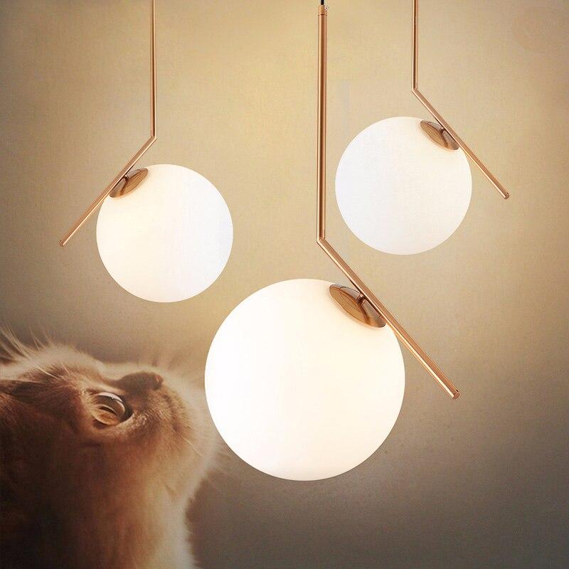 цена на Modern glass ball led pendant light home light lamp ceiling fan for kids bedroom light hanging lamp vintage lamp night light
