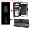2X BUNDLE PACK Кожаный Чехол Для iPhone 6 6 s plus Case + новый 0 Цикл Литий-Ионный Аккумулятор Для iPhone 6 6 s plus Батареи Включают подарочная коробка