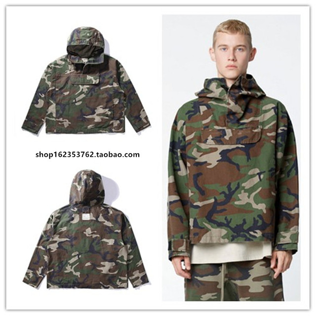 cbaccde84dee4 Fog FEAR OF GOD clothing tactical army kryptek camouflage jackets men coat  military anorak camo jacket windbreaker Justin Bieber
