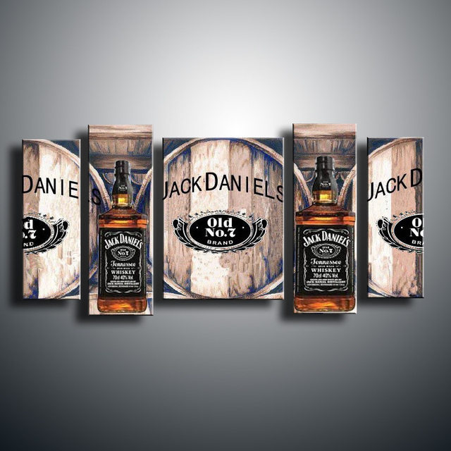 Hand Painted Oil Decoration Abstract Painting Canvas Jack Daniels In Jl