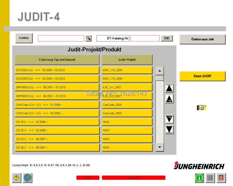 JETI-Jungheinrich Judit-4 Diagnostic software (v4.33)+license