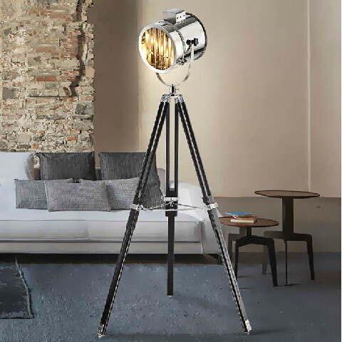 Vintage loft nautical spot tripod spotlight floor lamp abajur vintage loft nautical spot tripod spotlight floor lamp abajur photography light projector standing lamp gold mozeypictures