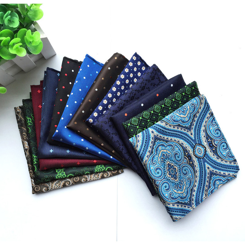 Cashew Handkerchief Paisley Silk Handkerchiefs Dot Totem Hanky Men's Business Casual Square Pockets Handkerchief Wedding Hankies