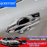 QCBXYYXH ABS Car Styling Car Door Handle Cover Box Sequins Decoration Handle Bowl Frame Sequins For