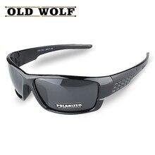 OLD WOLF New Arrival Promotion Polarized Sunglasses Men Brand Designer Men Goggles Glasses High Quality Lower Price Eyewear